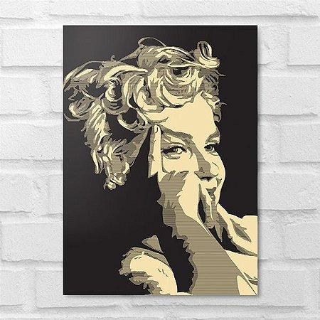 Placa Decorativa - Marilyn Monroe Poster