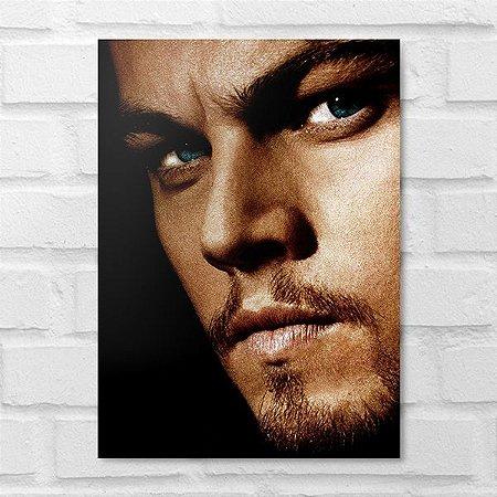 Placa Decorativa - Face Leonardo DiCaprio