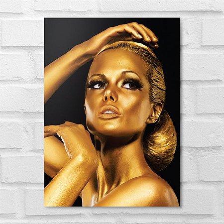 Placa Decorativa - Makeup Gold