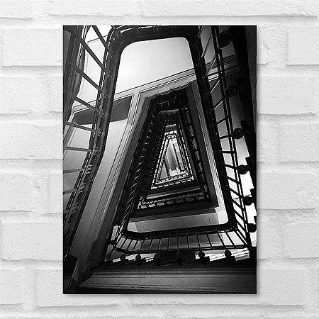 Placa Decorativa - Escadaria P&B