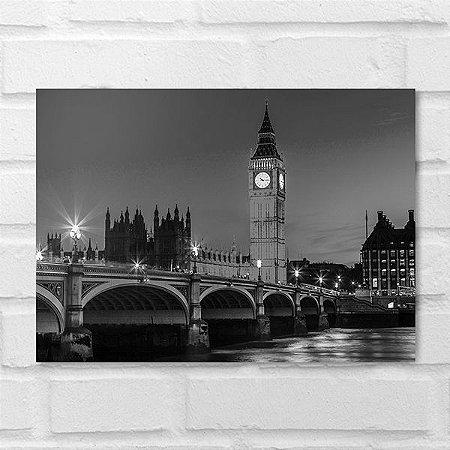 Placa Decorativa - Londres Big Ben