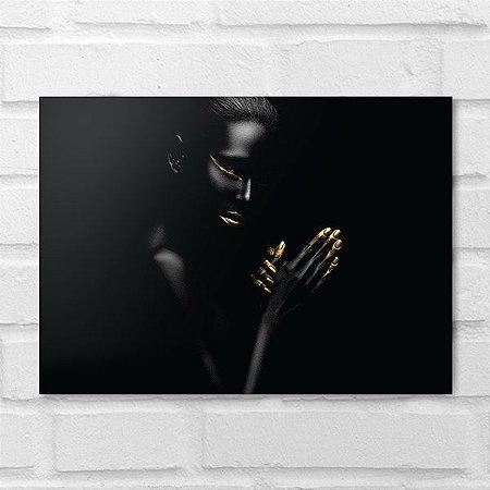 Placa Decorativa - Makeup Black 3
