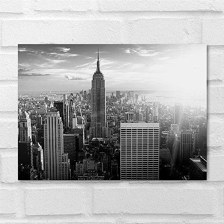 Placa Decorativa - Cidades Nova York