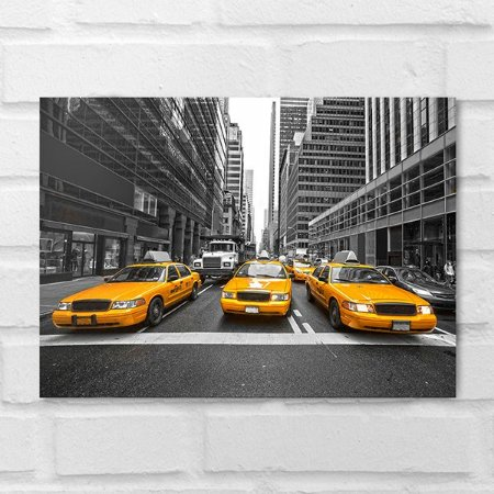 Placa Decorativa - Taxis Nova York