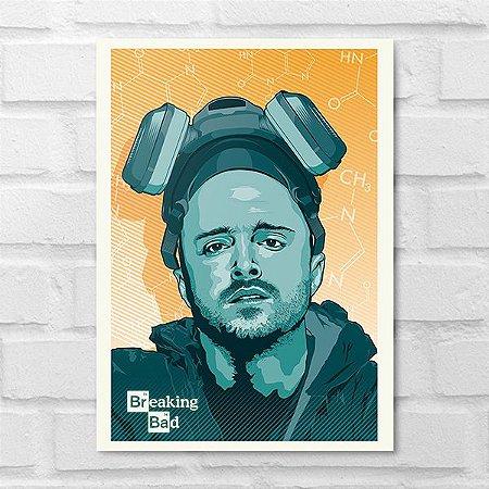 Placa Decorativa - Breaking Bad Jesse Pinkman Poster
