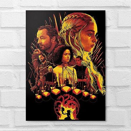Placa Decorativa - Game of Thrones Poster