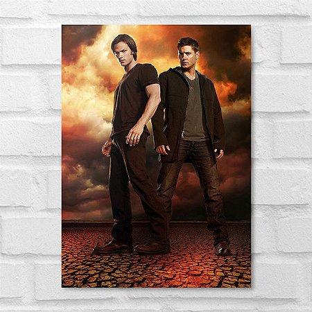Placa Decorativa - Supernatural Dean e Sam