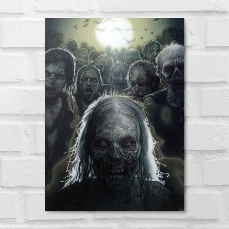 Placa Decorativa - The Walking Dead Zombies