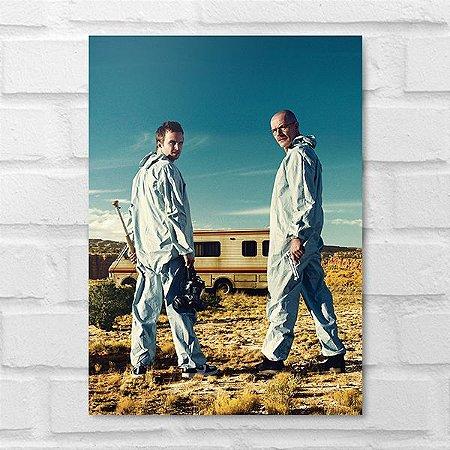 Placa Decorativa - Walter White e Jesse Pinkman