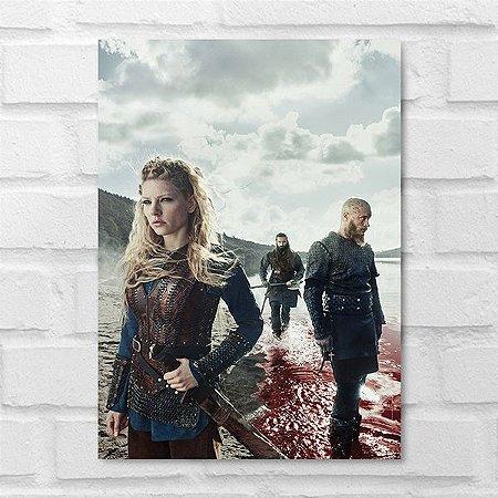 Placa Decorativa - Vikings Personagens