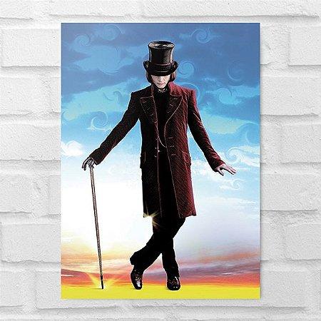 Placa Decorativa - Willy Wonka
