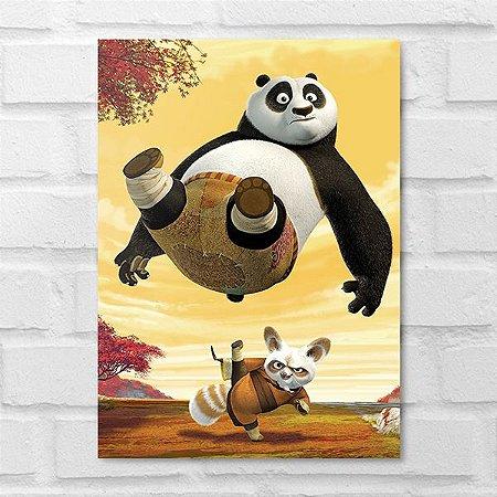 Placa Decorativa - Kung Fu Panda