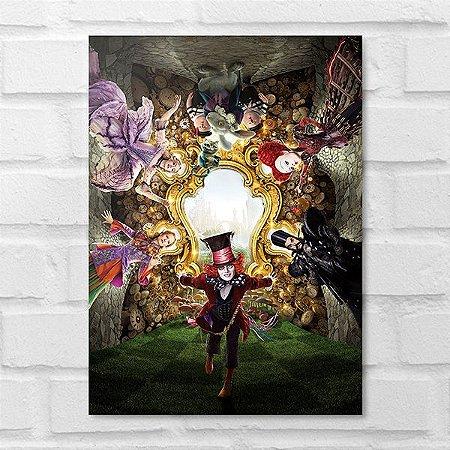 Placa Decorativa - Alice Através do Espelho