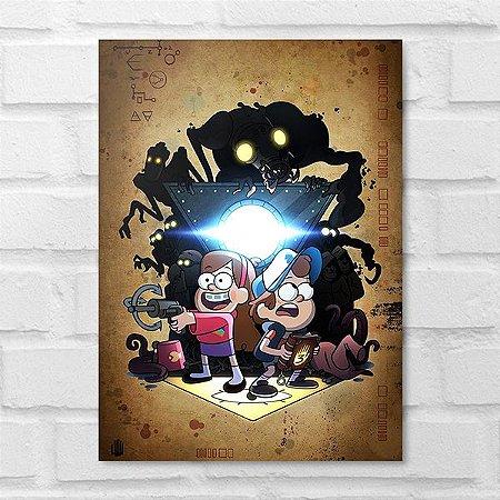 Placa Decorativa - Gravity Falls: Um Verão de Mistérios