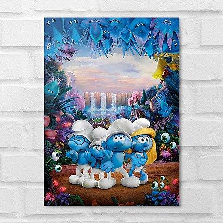 Placa Decorativa - Os Smurfs