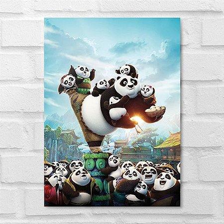 Placa Decorativa - Kung Fu Panda 3