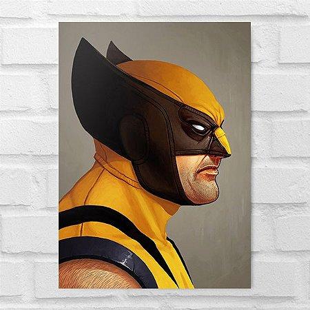 Placa Decorativa - Wolverine Poster