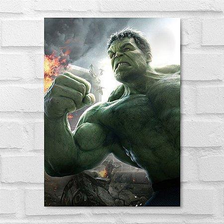 Placa Decorativa - Hulk