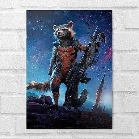 Placa Decorativa - Rocket Raccon Guardiões da Galáxia