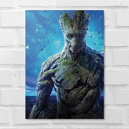 Placa Decorativa - Groot Guardiões da Galáxia