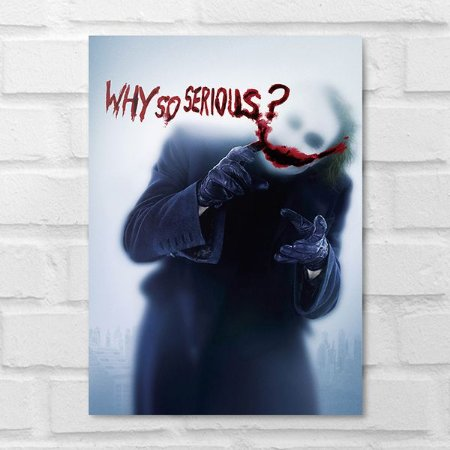 Placa Decorativa - Coringa Why So Serious?