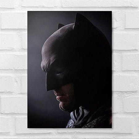 Placa Decorativa - Batman Face