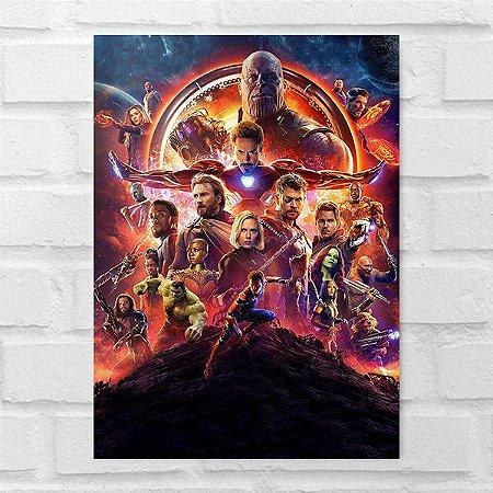 Placa Decorativa - Os Vingadores Guerra Infinita