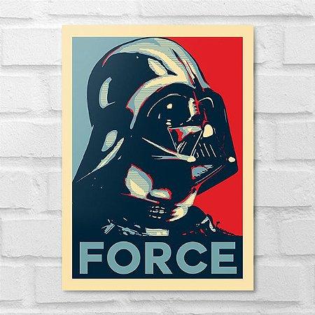 Placa Decorativa - Darth Vader Force