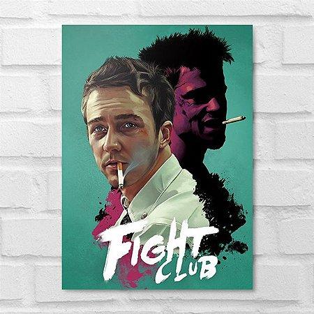 Placa Decorativa - Clube da Luta Poster