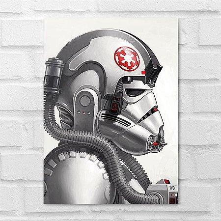 Placa Decorativa - Star Wars Piloto