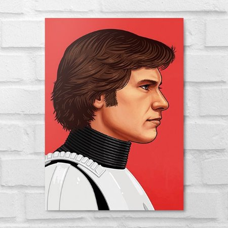 Placa Decorativa - Star Wars Han Solo