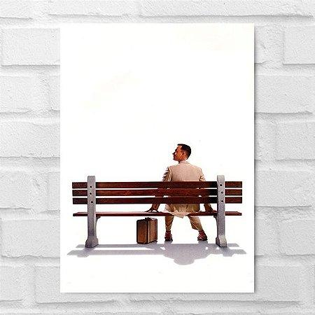Placa Decorativa - Forrest Gump O Contador de Histórias
