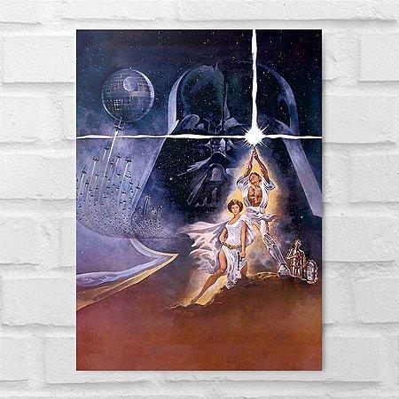 Placa Decorativa - Star Wars Personagens Poster