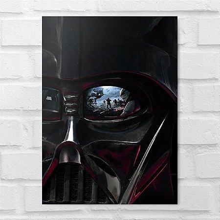 Placa Decorativa - Star Wars Darth Vader Face