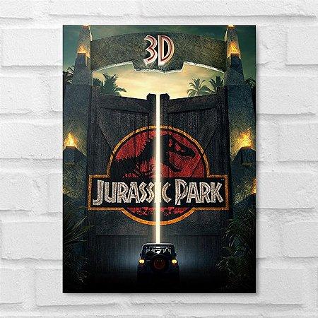 Placa Decorativa - Jurassic Park