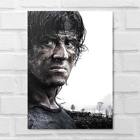 Placa Decorativa - Rambo