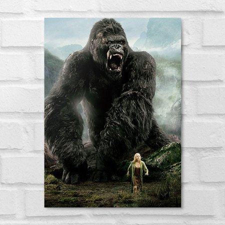Placa Decorativa - King Kong