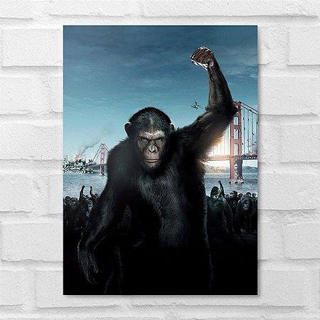 Placa Decorativa - Planeta dos Macacos