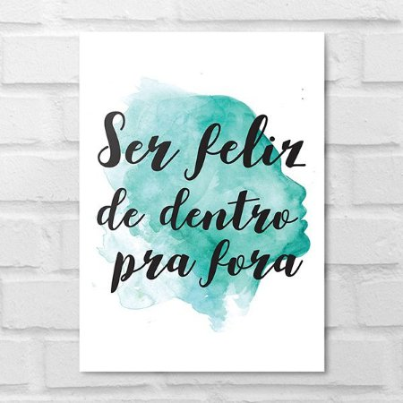 Placa Decorativa - Ser Feliz