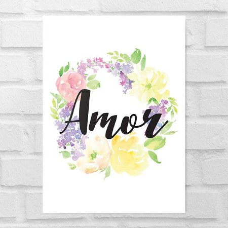 Placa Decorativa - Amor