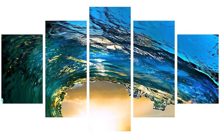 Painel Mosaico Decorativo em 5 partes - Onda