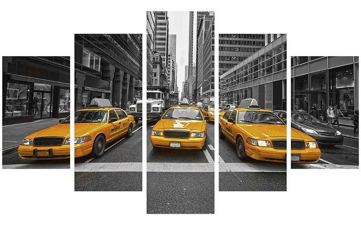 Painel Mosaico Decorativo em 5 partes - Táxis