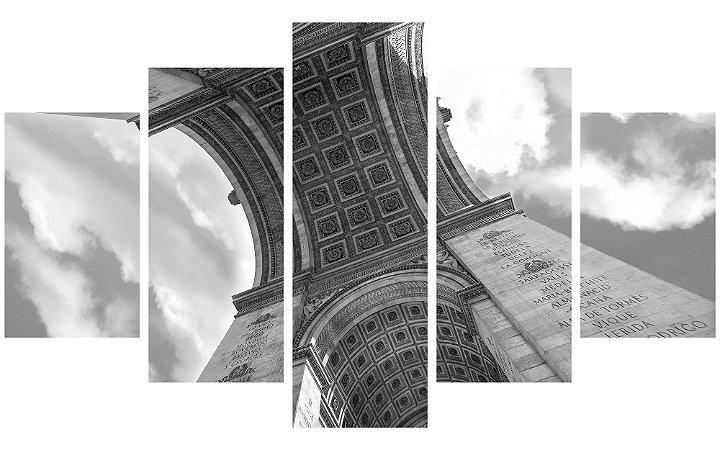 Painel Mosaico Decorativo em 5 partes - Arco do Triunfo
