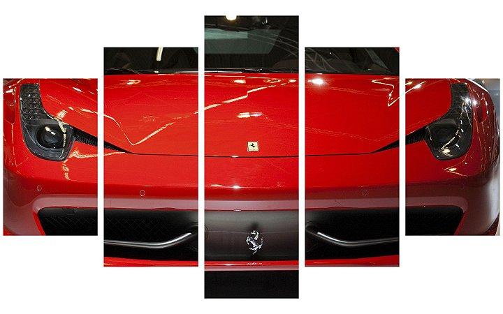 Painel Mosaico Decorativo em 5 partes - Ferrari Frente