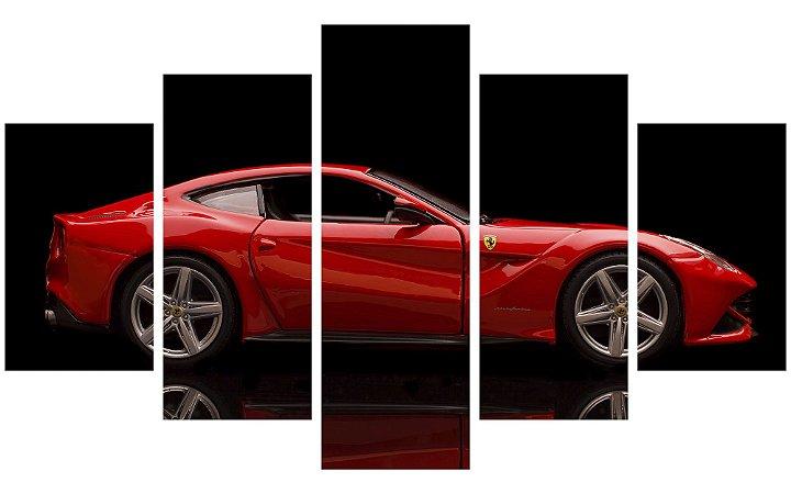 Painel Mosaico Decorativo em 5 partes - Ferrari