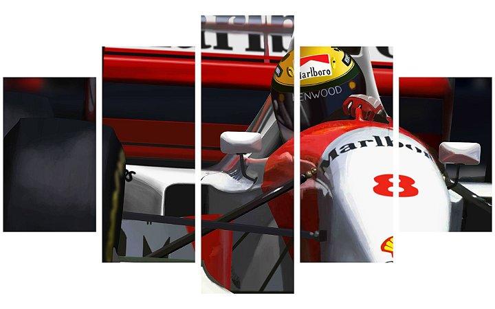 Painel Mosaico Decorativo em 5 partes - Airton Senna