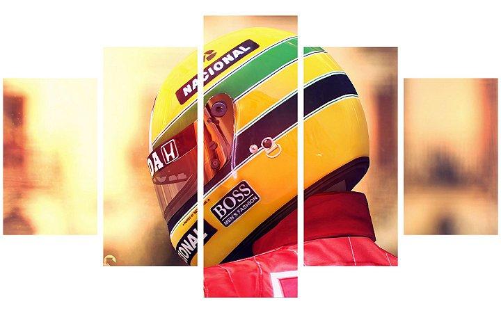Painel Mosaico Decorativo em 5 partes - Airton Senna 2