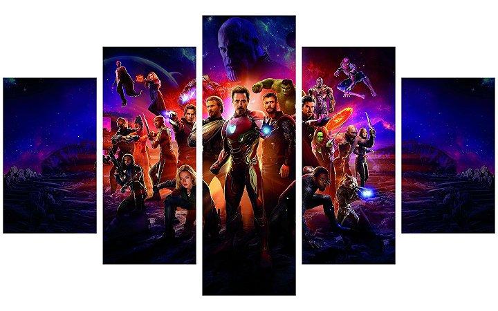 Painel Mosaico Decorativo em 5 partes - Vingadores: Guerra Infinita