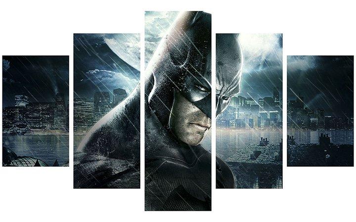Painel Mosaico Decorativo em 5 partes - Batman