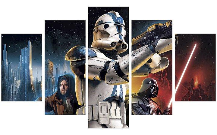 Painel Mosaico Decorativo em 5 partes - Star Wars Personagens